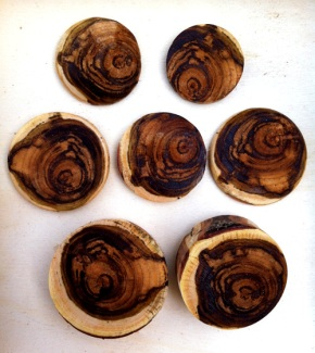 Turning Redbud Wood Cabochons