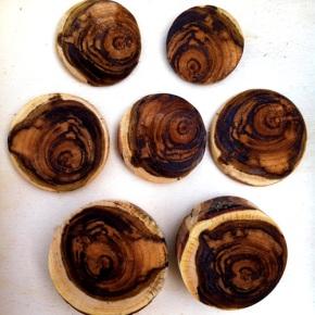 Turning Redbud WoodCabochons
