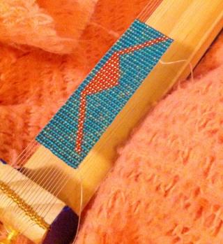 Wrap for Native American Flute in progress