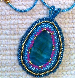 Laura's Beaded Cabachon
