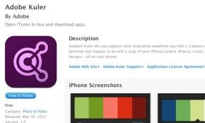 Mobile Adobe Kuler for designing colorpalettes