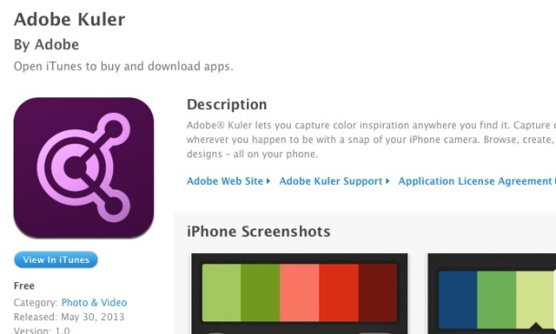 kuler for iPhone