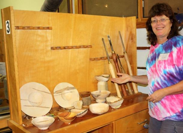 Woodturning display